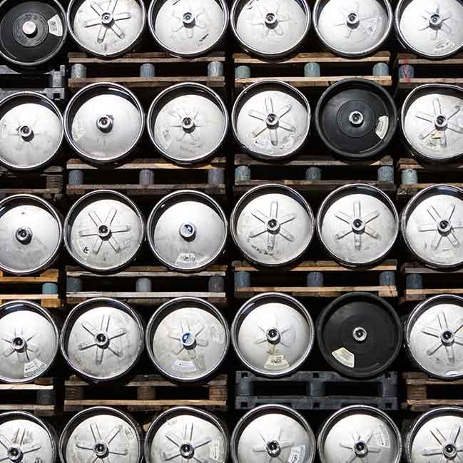 Leinenkugel Brewery Kegs